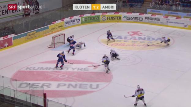 Video «Eishockey: NLA, Kloten - Ambri» abspielen
