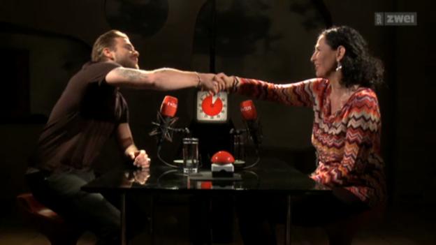 Video «Focus «Blind Date»: Regula Stämpfli trifft Baschi» abspielen