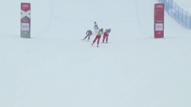 Video «Schweizer Doppelsieg im Skicross» abspielen
