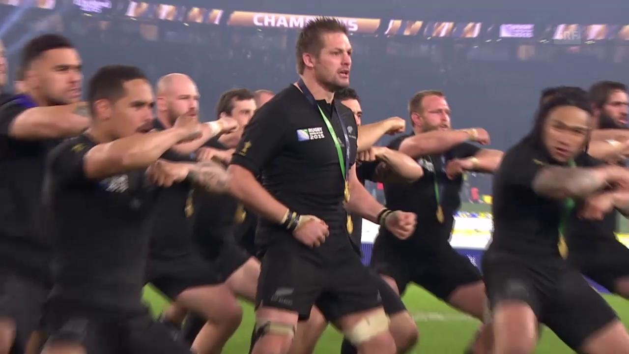 Rugby: «Haka» Neuseeland nach Titelgewinn