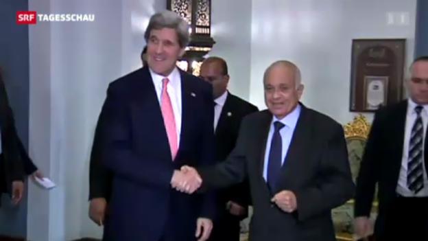 Video «Kerry auf seinem ersten Ägypten-Besuch.» abspielen