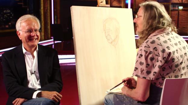 Video «Der Meisterfälscher - (1) Wolfgang Beltracchi porträtiert Harald Schmidt» abspielen