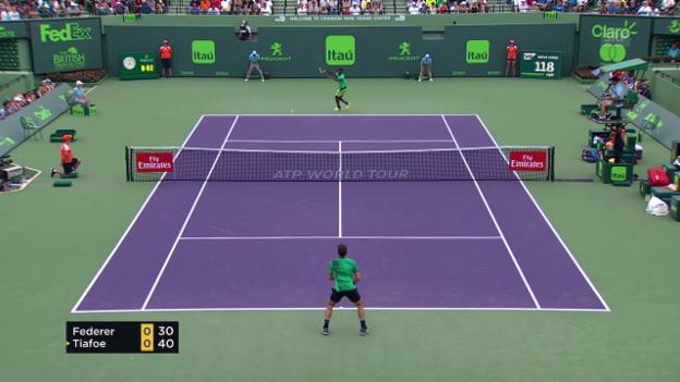 Video «Wichtige und schöne Punkte bei Federer - Tiafoe» abspielen