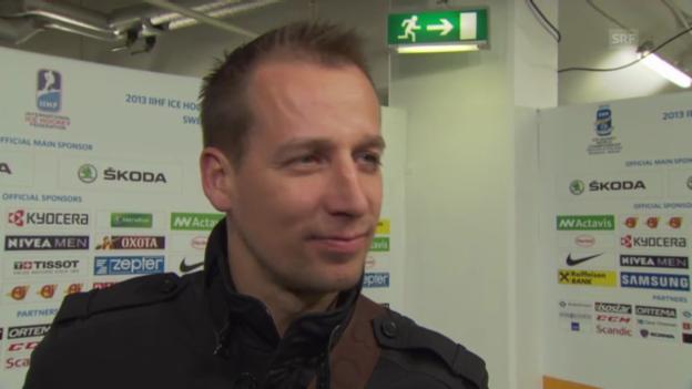 Video «Eishockey: WM 2013, Interview mit SCB-Coach Törmänen über die Schweizer Leistungen» abspielen