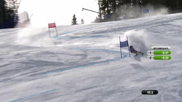 Video «Ski-WM Vail/Beaver Creek, RS Fahrt Anna Fenninger» abspielen