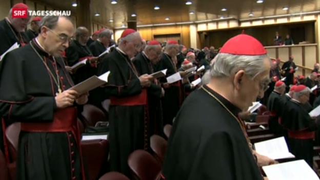 Video «Die Kardinäle treffen ein» abspielen