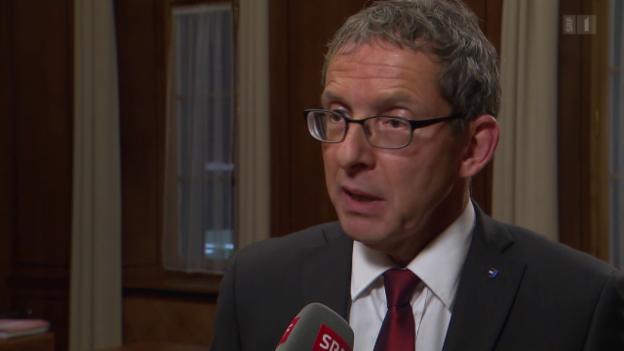 Video «Aargauer Regierungsrat spricht von «hartem Schlag»» abspielen