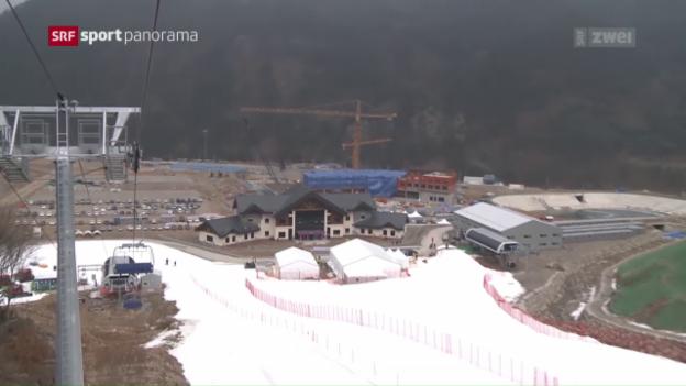 Video «Olympia-Hauptprobe in Pyeongchang» abspielen