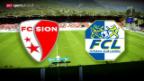Video «Fussball: Vorschau Sion - Luzern» abspielen