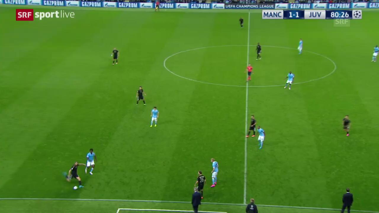 Fussball: Champions League, ManCity-Juventus, Tor zum 1:2