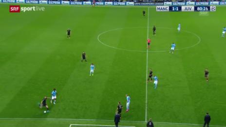 Video «Fussball: Champions League, ManCity-Juventus, Tor zum 1:2» abspielen