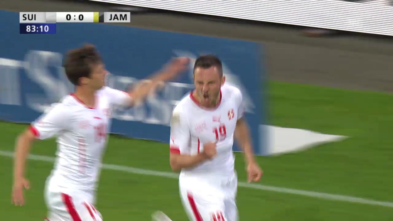Fussball: Schweiz-Jamaika, Szenen Drmic