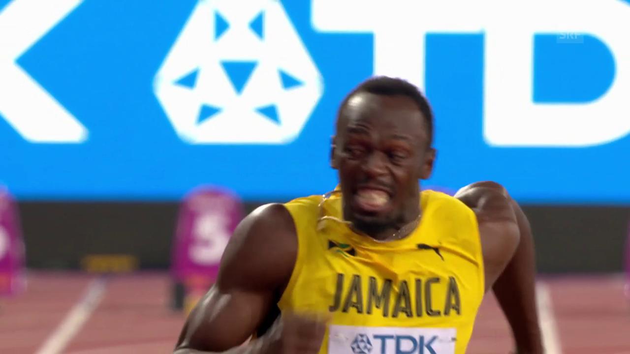 Bolt geniesst auch als Dritter die volle Aufmerksamkeit