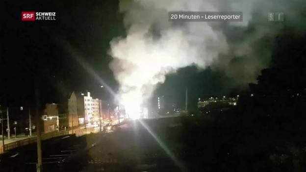 Video «Brandanschlag auf Baustelle des PJZ» abspielen