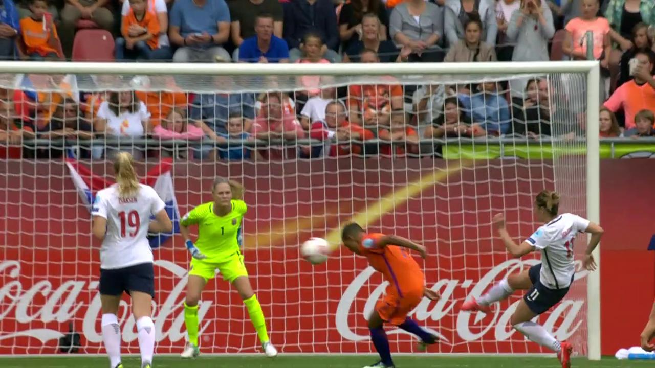 Frauen-EM: Der entscheidende Treffer bei Niederlande-Norwegen