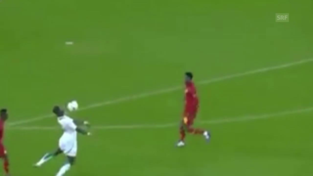 Fussball: Senegal-Ghana, Tor Konaté