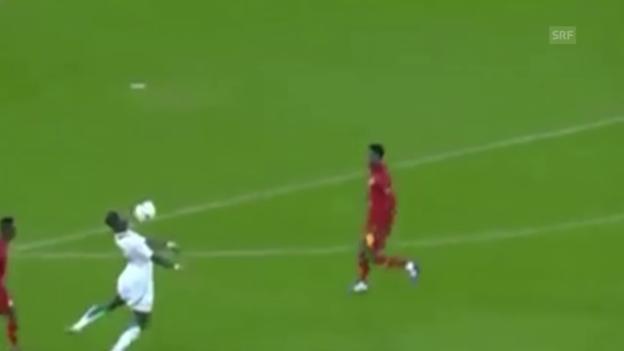 Video «Fussball: Senegal-Ghana, Tor Konaté» abspielen