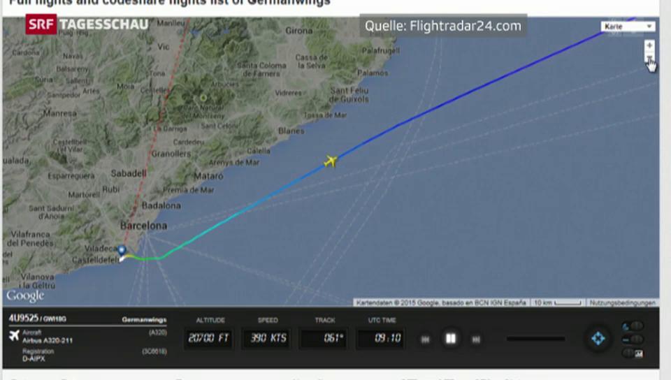 Was über den Verlauf von Flug 4U9525 bekannt ist