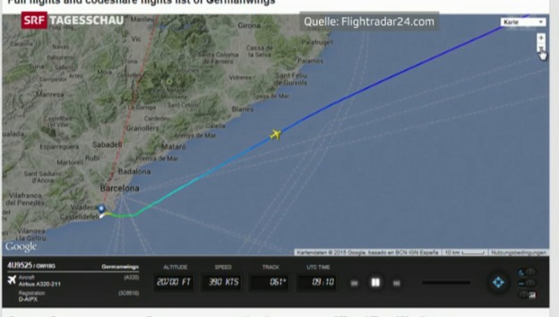 Video «Was über den Verlauf von Flug 4U9525 bekannt ist» abspielen