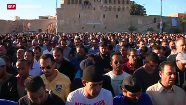 Video «Angespannte Lage in Tripolis» abspielen