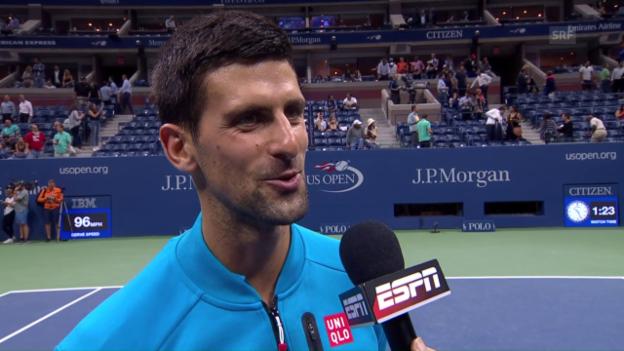 Video «Djokovic: «Ich schaue derzeit viele Comics»» abspielen