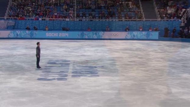 Video «Eiskunstlauf, Männer: Kurzprogramm von Patrick Chan (sotschi direkt, 13.2.2014)» abspielen