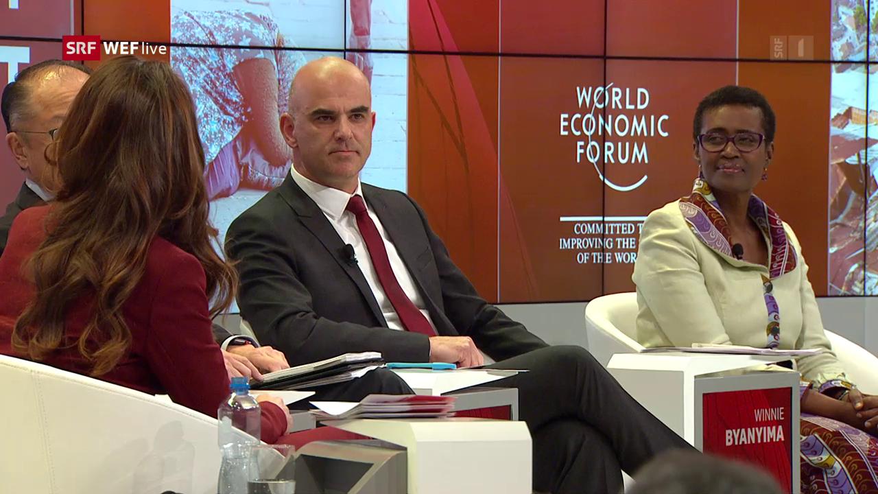 WEF 2018: «SRF live debate»