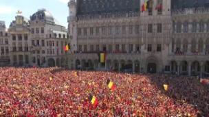 Video «Feierlicher Emfang für Belgiens Nationalmannschaft» abspielen