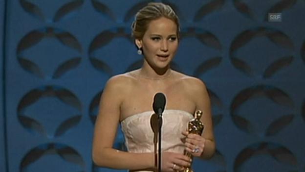 Video «Oscar-Rede von Jennifer Lawrence (beste Hauptrolle)» abspielen