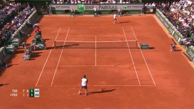 Video «Federer - Tsonga: Wichtigste Ballwechsel («sportlive»)» abspielen