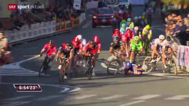 Video «Pech für Cancellara bei Mailand - Sanremo» abspielen