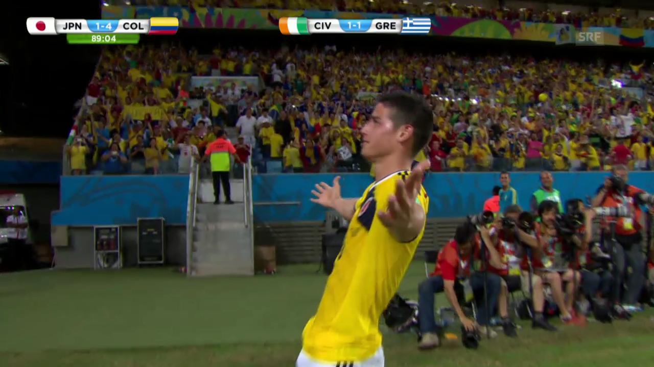 Fussball: Die WM-Tore von James Rodriguez