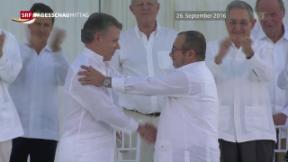 Video «Juan Manuel Santos bekommt Friedensnobelpreis» abspielen