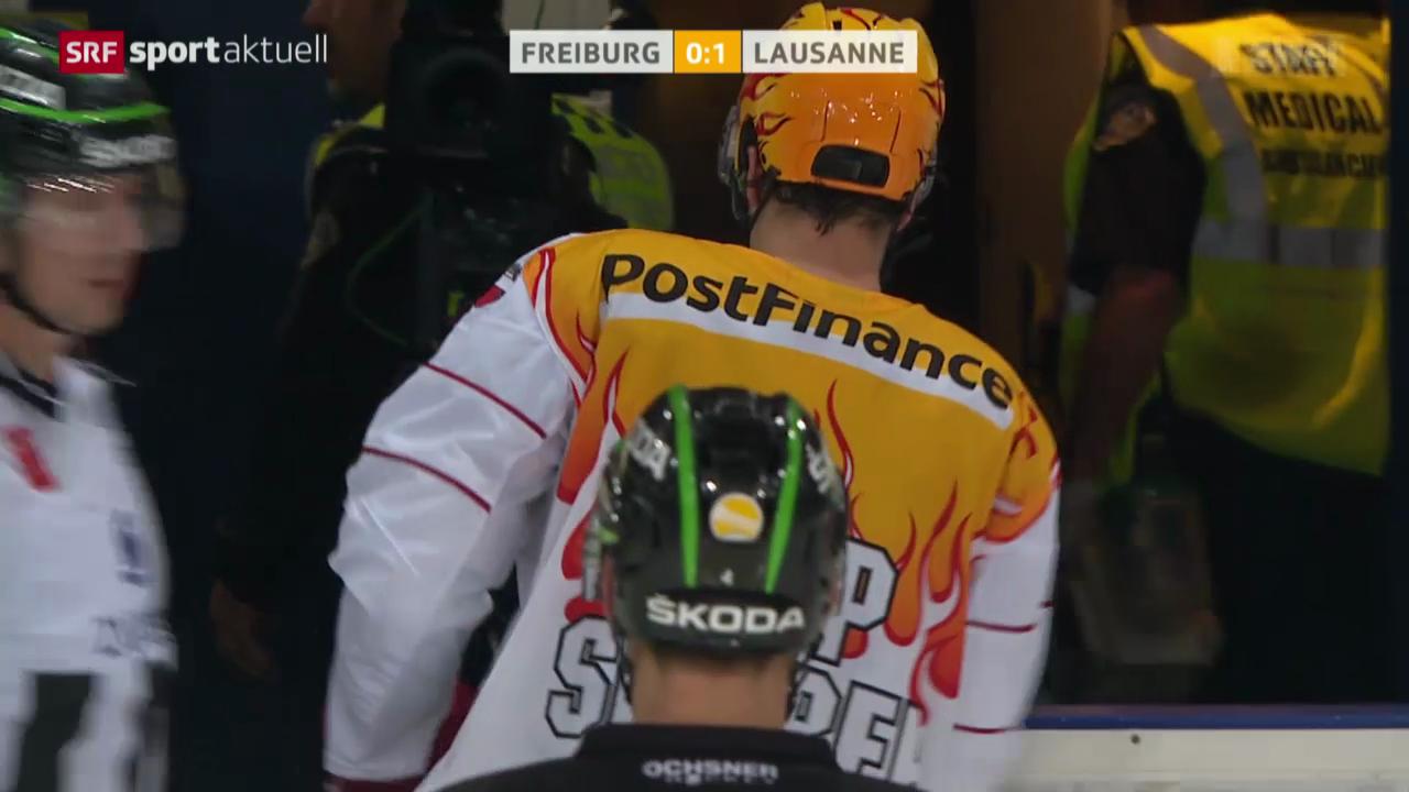 Eishockey: Ossi Louhivaaras Foul an Benjamin Plüss