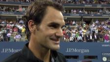 Video «Federer im Platzinterview über Groth» abspielen