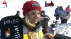 Video «Snowboard: Gesamtweltcup-Sieg von Patrizia Kummer» abspielen