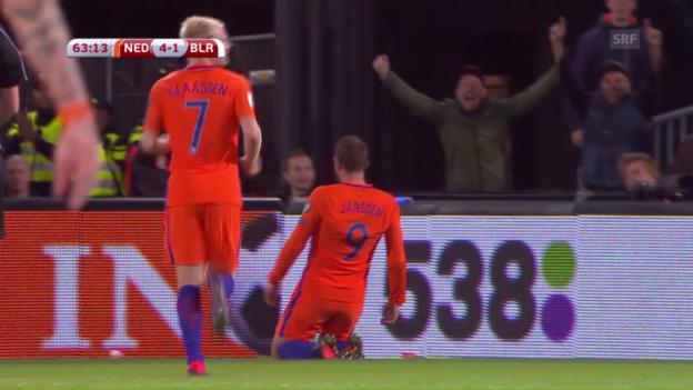 Video «Die Niederlande dominieren Weissrussland» abspielen