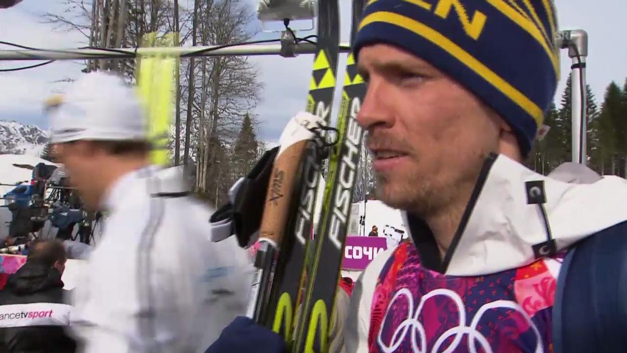 Langlauf: Interview mit Johan Olsson (sotschi direkt, 14.2.2014)