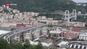 Video «FOKUS: Autobahnbrücke in Genua eingestürzt» abspielen