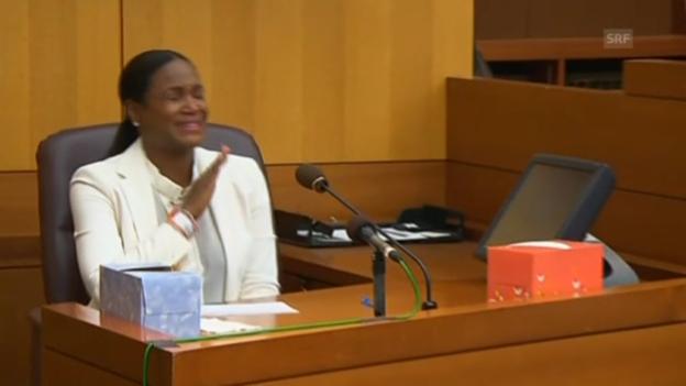 Video «Ushers Ex-Frau Tameka Foster bei der Anhörung» abspielen