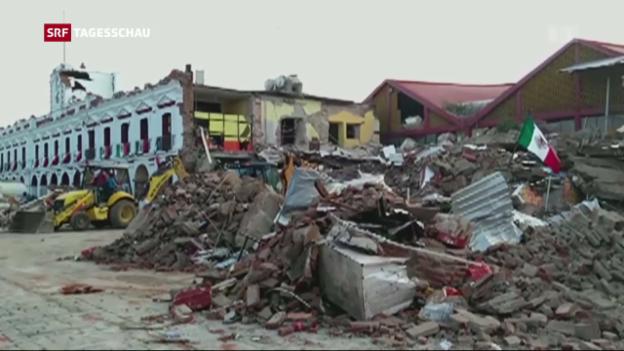 Video «Schweres Erdbeben für Mexikos Küste» abspielen