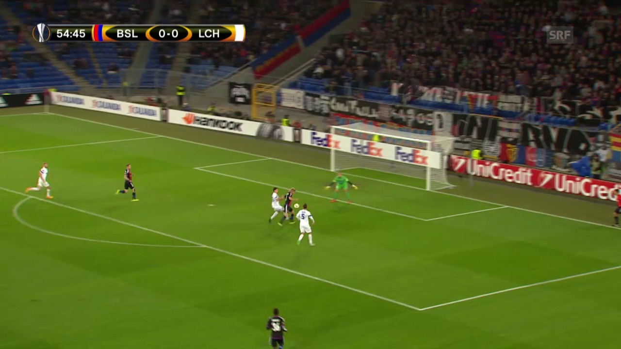 Fussball: Europa League 2015/16, 2. Gruppenspiel, Basel – Lech Posen, 1:0 durch Bjarnason