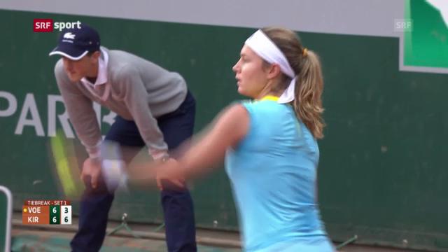 French Open: Vögeles Spiel gegen Kirilenko («sportaktuell»)
