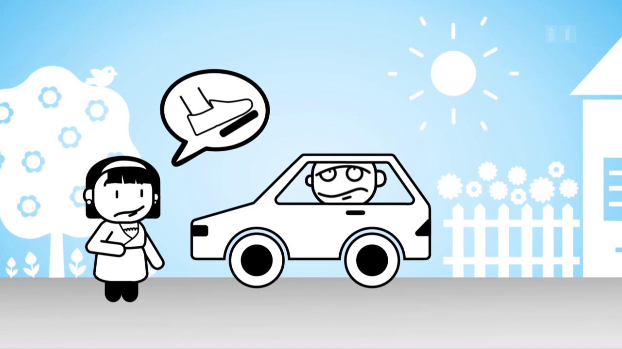 «Darf man das?»: Barfuss Auto fahren