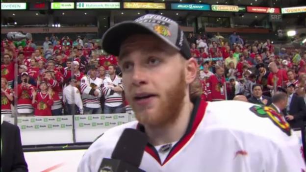 Video «Eishockey: Interview mit Patrick Kane (Englisch)» abspielen
