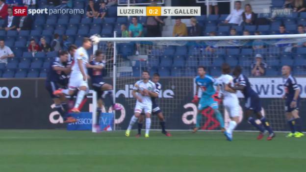 Video «Fussball: Luzern - St. Gallen» abspielen