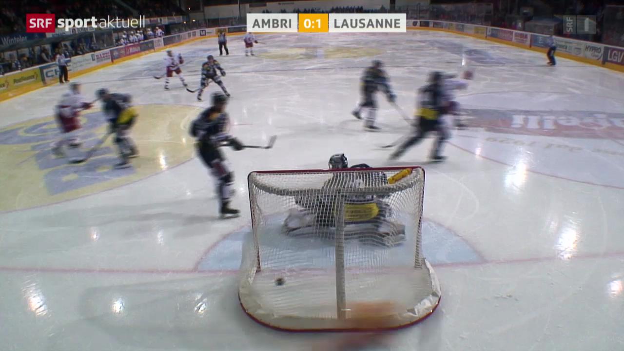 Eishockey: Ambri - Lausanne