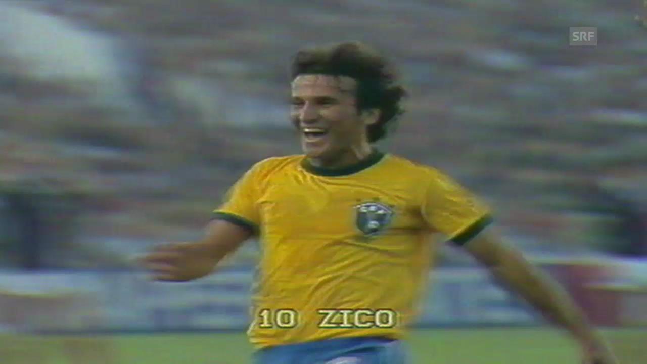 Fussball: Die 4 Tore von Zico an der WM 1982