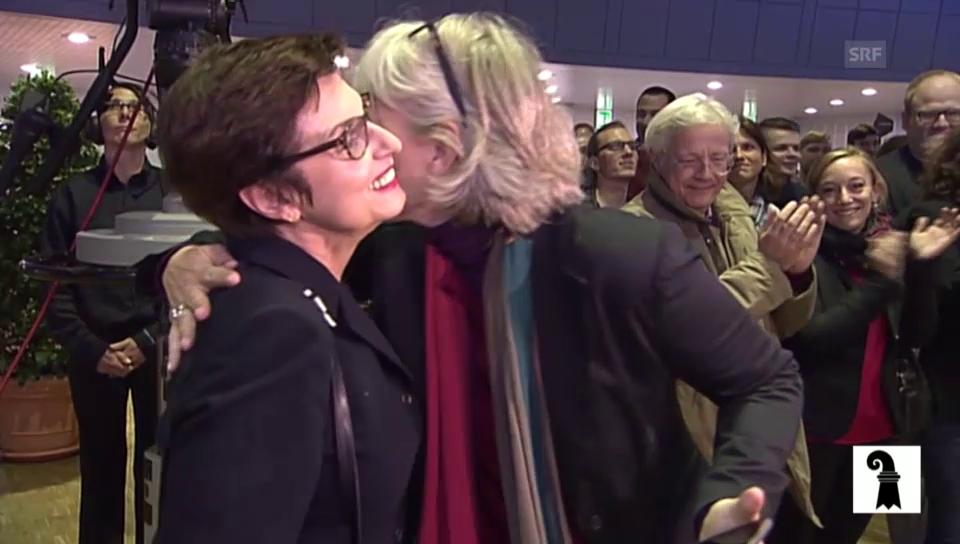 Anita Fetz (SP) zu ihrer Wiederwahl