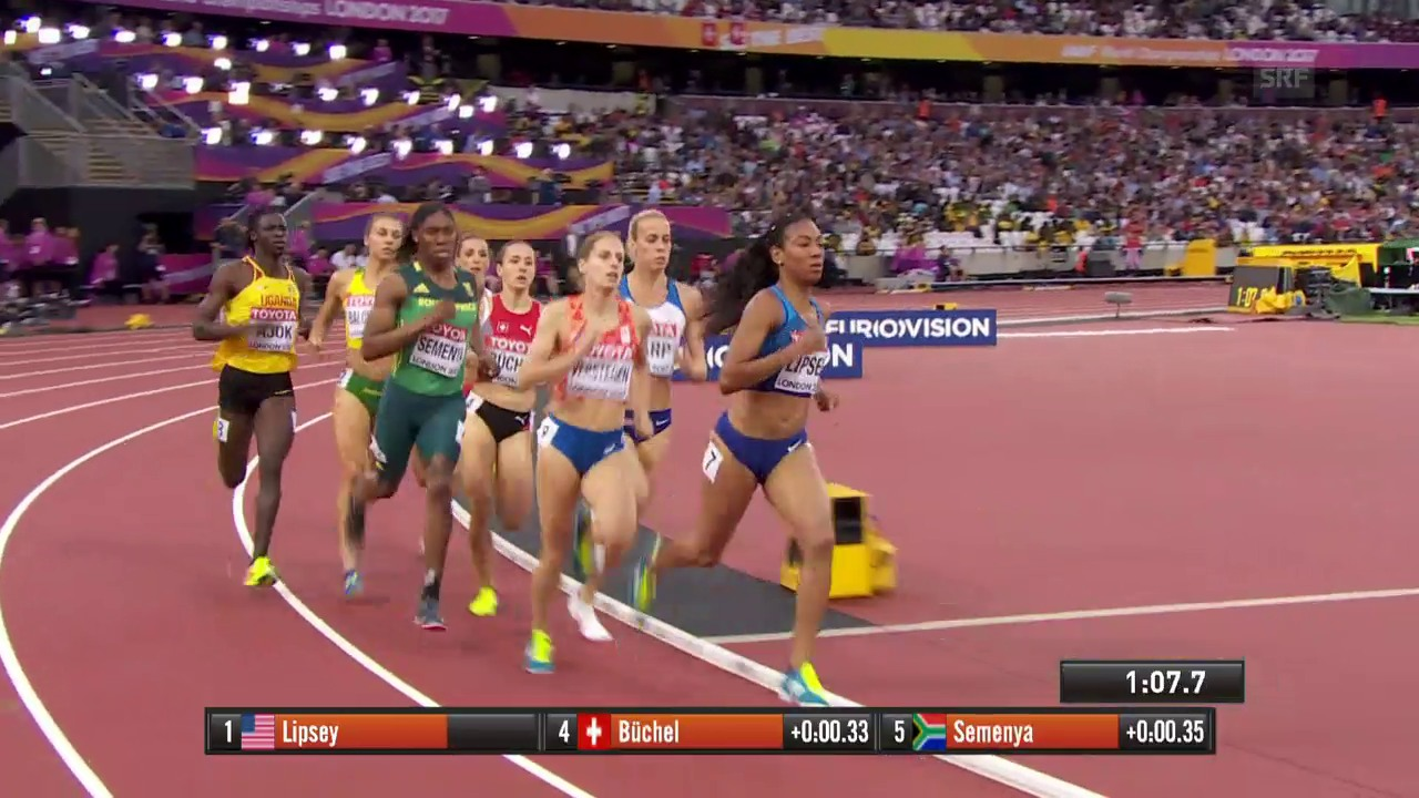 Der 800-m-Halbfinal mit Büchel